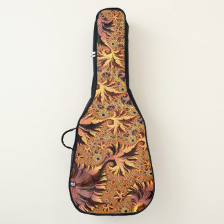 Funda De Guitarra El otoño del cobre y del oro coloreó arte del