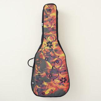 Funda De Guitarra flores y llamas