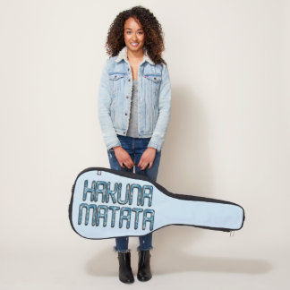 Funda De Guitarra Fondo hermoso del azul del texto de Hakuna Matata