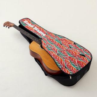 Funda De Guitarra Hojas rojas nativas de la flora