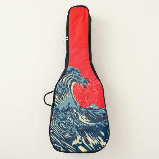Funda De Guitarra La gran onda de Hokusai en estilo vibrante del