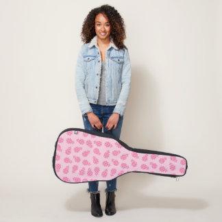 Funda De Guitarra Modelo lindo femenino de la piña del rosa en