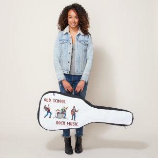 Funda De Guitarra música rock de la escuela vieja 8Bit