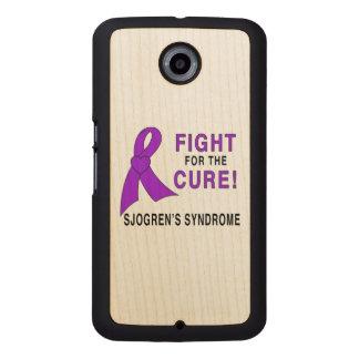Funda De Madera Lucha del síndrome de Sjogren para una curación