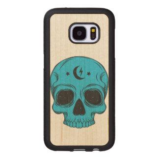 Funda De Madera Para Samsung Galaxy S7 Cráneo artístico
