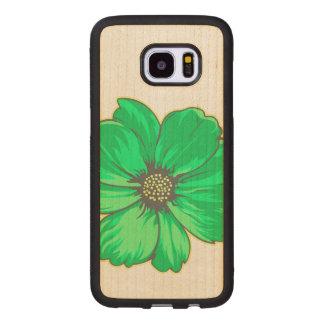 Funda De Madera Para Samsung Galaxy S7 Edge Diseño floral artístico