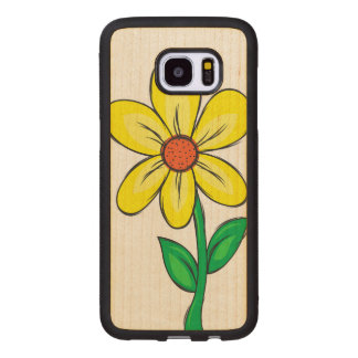 Funda De Madera Para Samsung Galaxy S7 Edge Flor artística de la primavera