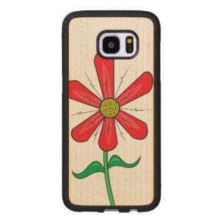 Funda De Madera Para Samsung Galaxy S7 Edge Flor floreciente de la primavera