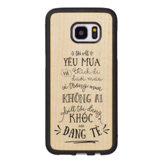 Funda De Madera Para Samsung Galaxy S7 Edge Lưng Việt Nam de Ốp