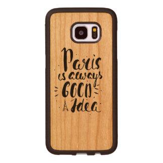 Funda De Madera Para Samsung Galaxy S7 Edge París es siempre una buena idea