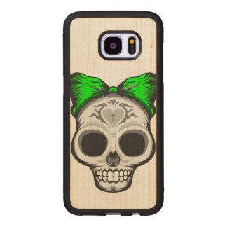 Funda De Madera Para Samsung Galaxy S7 Edge Srta. Thang Sugar Skull