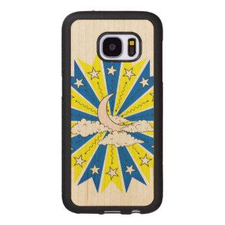 Funda De Madera Para Samsung Galaxy S7 Ejemplo de Dreamscape de la noche