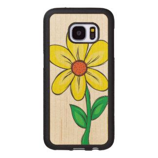 Funda De Madera Para Samsung Galaxy S7 Flor artística de la primavera