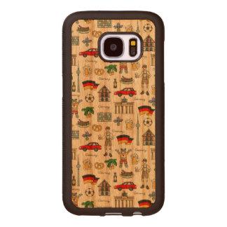 Funda De Madera Para Samsung Galaxy S7 Modelo de los símbolos de Alemania el |