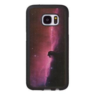 Funda De Madera Para Samsung Galaxy S7 Nebulosa de Horsehead que sorprende