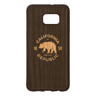 Funda De Madera Para Samsung S6 Edge Plus Logotipo el | de California el Golden State