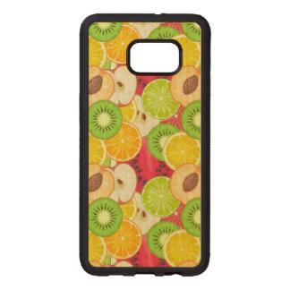 Funda De Madera Para Samsung S6 Edge Plus Modelo colorido de la fruta de la diversión