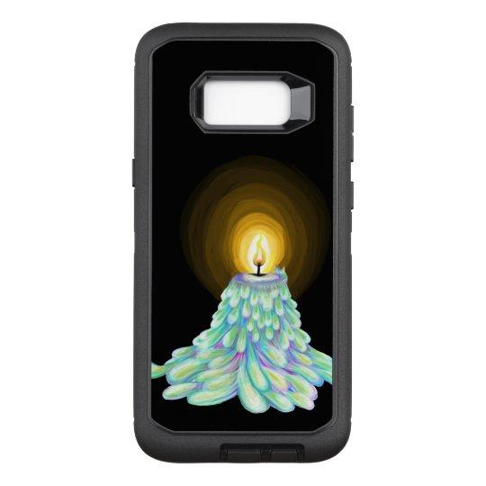 Funda Defender De OtterBox Para Samsung Galaxy S8+ Arte de fusión colorido de la vela en virtud de la