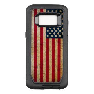 Funda Defender De OtterBox Para Samsung Galaxy S8 Bandera americana del vintage