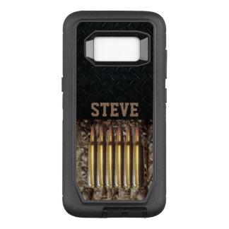 Funda Defender De OtterBox Para Samsung Galaxy S8 Camo y caja de la bala de la caza de la placa del