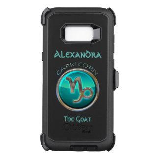Funda Defender De OtterBox Para Samsung Galaxy S8+ Capricornio - la muestra del horóscopo de la cabra