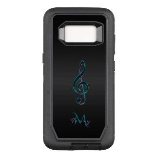 Funda Defender De OtterBox Para Samsung Galaxy S8 Clef de la música de la lavanda del verde del