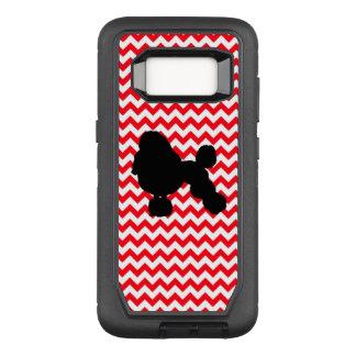 Funda Defender De OtterBox Para Samsung Galaxy S8 Coche de bomberos Chevron rojo con la silueta del