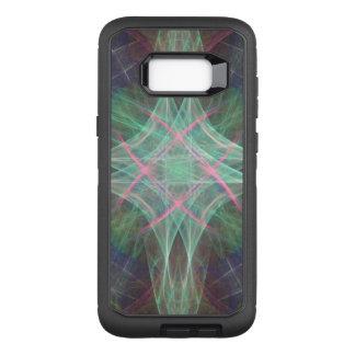 Funda Defender De OtterBox Para Samsung Galaxy S8+ Cruz en colores pastel del arco iris que remolina