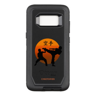 Funda Defender De OtterBox Para Samsung Galaxy S8 Dos combatientes del karate con el sol naciente