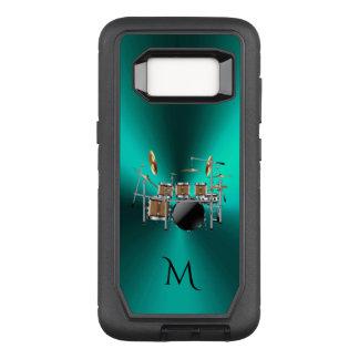 Funda Defender De OtterBox Para Samsung Galaxy S8 El trullo metálico del monograma teclea la caja de