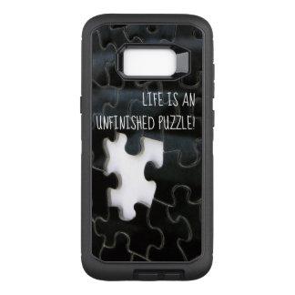 Funda Defender De OtterBox Para Samsung Galaxy S8+ Fotografía que falta blanco y negro del pedazo del