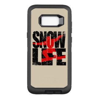 Funda Defender De OtterBox Para Samsung Galaxy S8+ Huésped rojo de la VIDA de la NIEVE (negro)
