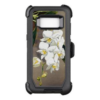 Funda Defender De OtterBox Para Samsung Galaxy S8 La orquídea florece la caja de la galaxia S8 de