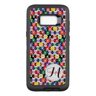 Funda Defender De OtterBox Para Samsung Galaxy S8+ Modelo de la bola de billar - monograma