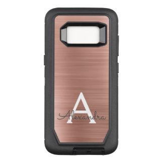 Funda Defender De OtterBox Para Samsung Galaxy S8 Monograma color de rosa rosado del acero