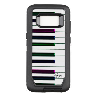 Funda Defender De OtterBox Para Samsung Galaxy S8 Monograma colorido del piano del teclado