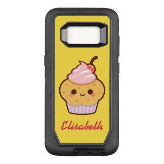 Funda Defender De OtterBox Para Samsung Galaxy S8 Monograma dulce del nombre de la magdalena del