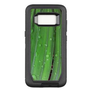 Funda Defender De OtterBox Para Samsung Galaxy S8 Navidad palma y gotas de agua