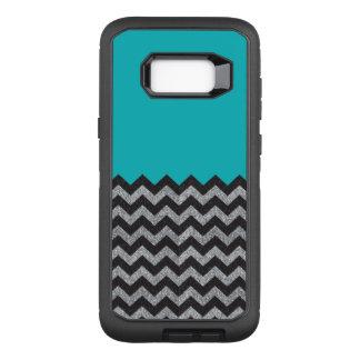 Funda Defender De OtterBox Para Samsung Galaxy S8+ Negro y galaxia 8 de Chevron del brillo de la