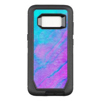 Funda Defender De OtterBox Para Samsung Galaxy S8 Piedra azul de la acuarela de la pintada del arte