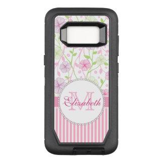 Funda Defender De OtterBox Para Samsung Galaxy S8 Rayas del rosa en colores pastel, de la púrpura,