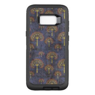 Funda Defender De OtterBox Para Samsung Galaxy S8+ Rojo y modelo del árbol del oro en azul enturbiado