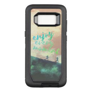 Funda Defender De OtterBox Para Samsung Galaxy S8 Tipografía corriente que activa de la acuarela
