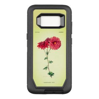 Funda Defender De OtterBox Para Samsung Galaxy S8 Vintage-Art_Floral_Mums_Rose-Paris-Green