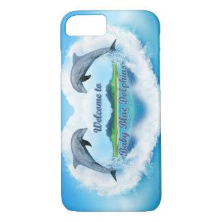 Funda del teléfono del delfín de los azules cielos