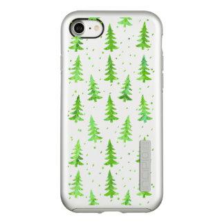 Funda DualPro Shine De Incipio Para iPhone 8/7 Árboles de pino de la acuarela