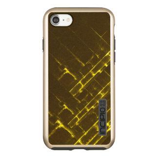 Funda DualPro Shine De Incipio Para iPhone 8/7 Armadura geométrica amarilla rústica del batik de