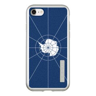 Funda DualPro Shine De Incipio Para iPhone 8/7 Bandera del caso antártico del iPhone de la plata
