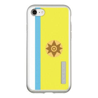 Funda DualPro Shine De Incipio Para iPhone 8/7 Bandera del caso canario del iPhone de la plata