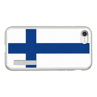 Funda DualPro Shine De Incipio Para iPhone 8/7 Bandera del caso de plata del iPhone de Finlandia
